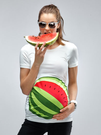 Maternity T-shirt  Watermelon Printing