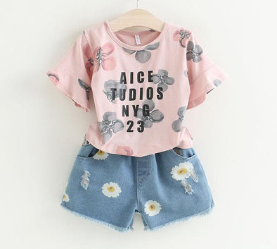 Fashion Girls Clothing Summer Set