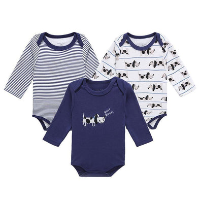 3 Pcs/Lot Long Sleeve Infant Romper