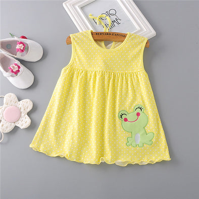 Lovely Frog Baby Girl Summer Dress