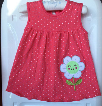 Lovely Red Baby Girl Summer Dress