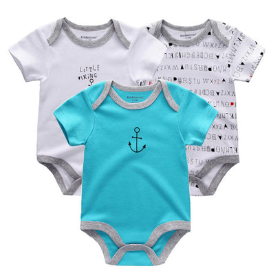 Organic Cotton Bodysuit 3Pcs for Boys