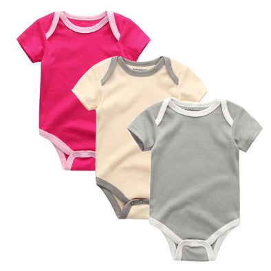 Lovely Baby Girl Organic Cotton Bodysuit 3Pcs