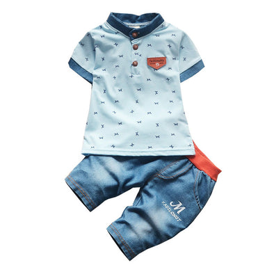 Denim Baby Boys Summer Clothing Set