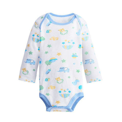 Long Sleeve Cotton Baby Boy Bodysuits