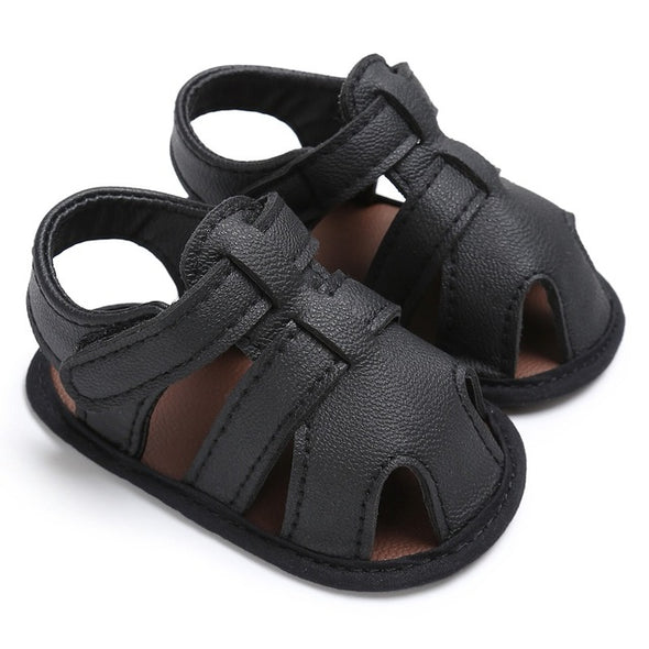 PU Leather Solid Sandals for Baby Boy
