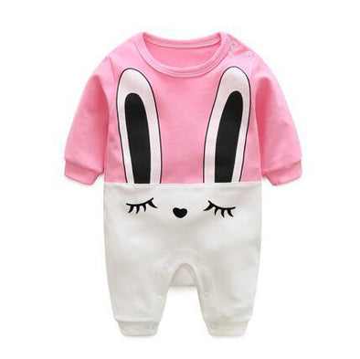 Cartoon Shy Eyes Infant Jumpsuit