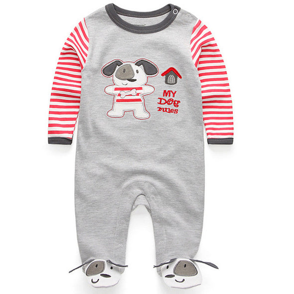 Doggy Long Sleeve Newborn Jumpsuits