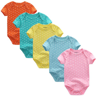 Bella Bambina 5pcs Cotton Baby Rompers