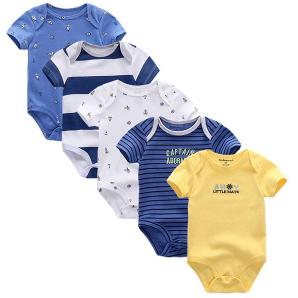 Champion 5pcs Summer Cotton Baby Rompers