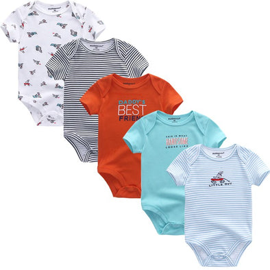 Baby Boy 5pcs Summer Cotton Onesies