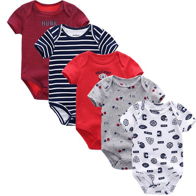Unisex 5pcs Summer Cotton Baby  Rompers