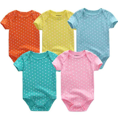 Color 5 Pcs/Lot High Quality Baby Bodysuits