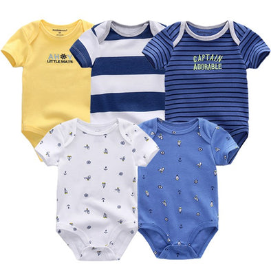5 Pcs/Lot High Quality Baby Boy Bodysuits