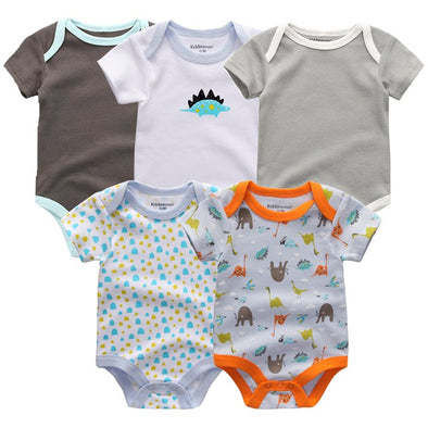 Lovable 5 Pcs/Lot High Quality Infant Bodysuits