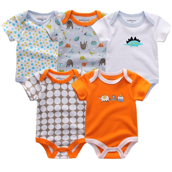 Little Man 5 Pcs/Lot High Quality Bodysuits