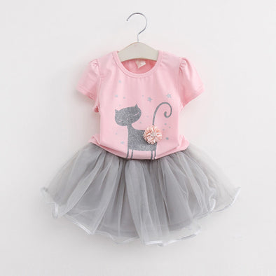 Kitty Baby Girls Clothing Sets