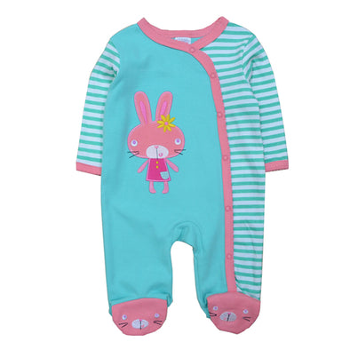 Blue Rabbit Long Sleeve Newborn Jumpsuits