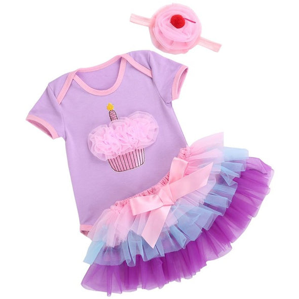 Tutu Skirt Newborn Baby Girl Set