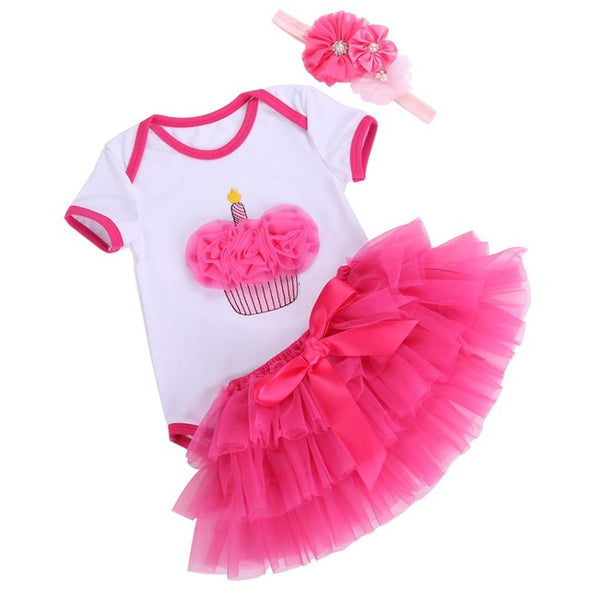 Cute Tutu Skirt Newborn Clothing Set