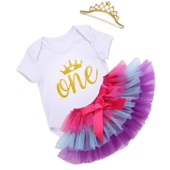 One Tutu Skirt Newborn Clothing Set