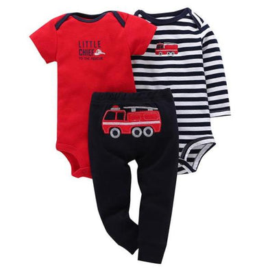 3Pcs Infant Body Cute Cotton Set
