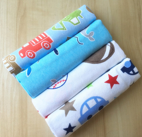 4pcs Cotton Supersoft Flannel Baby Blanket