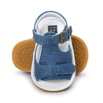 Toddler Girl's Solid PU Leather Sandals