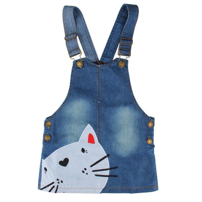 Little Kitty Denim Dress