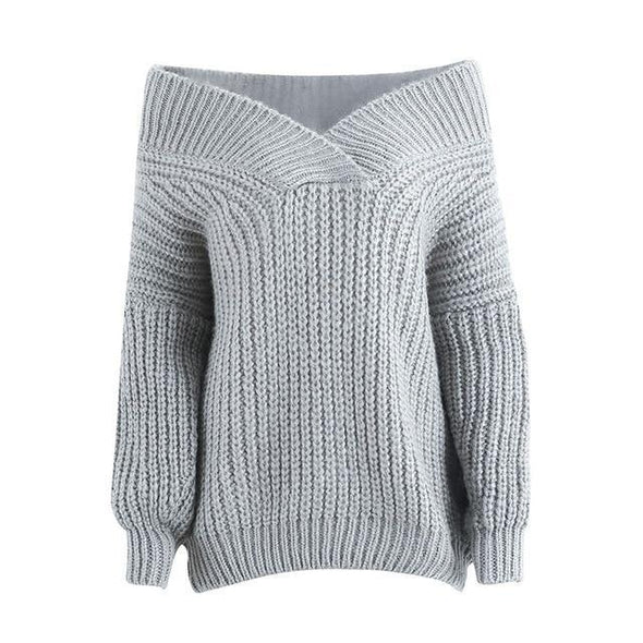 Winter Warm V Neck Knitted Sweater