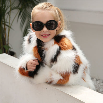 Winter Fur Jacket for Girls