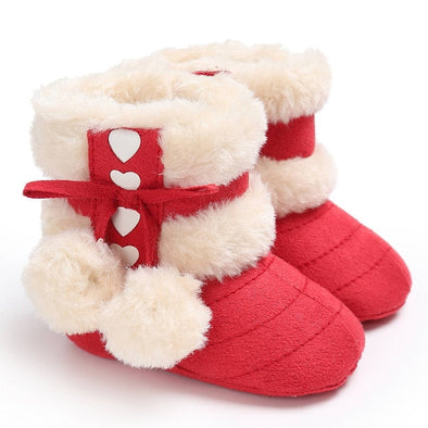 Warm Brushed Baby Snow Boots