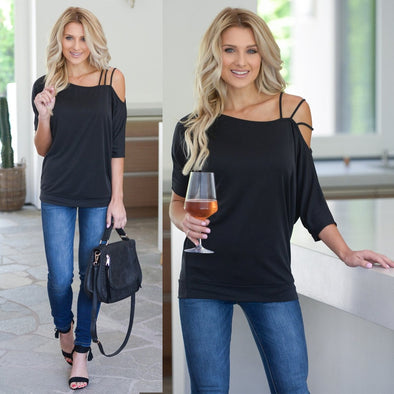 Loose Summer Off One Shoulder T-Shirts