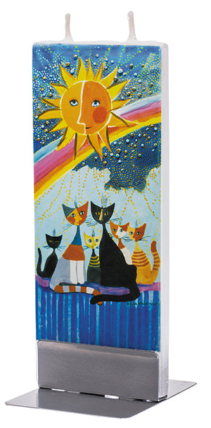 Cats family under the rainbow
