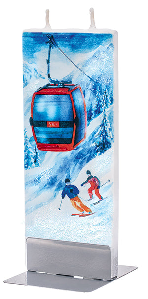 Ski Lift with skiers Candle