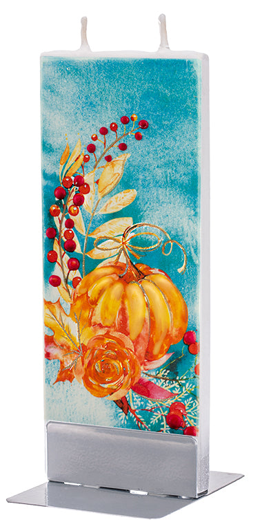 Fall Pumpkins in Turquoise Sky Candle