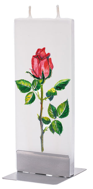 Red Rose Stem Candle