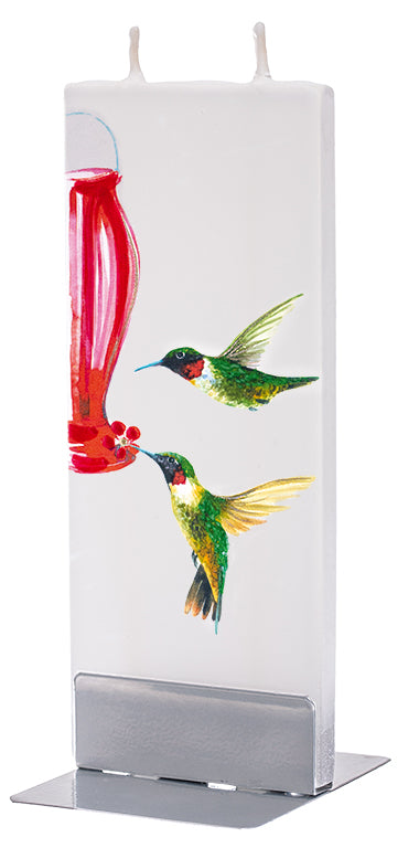 Hummingbirds with feeder Candle