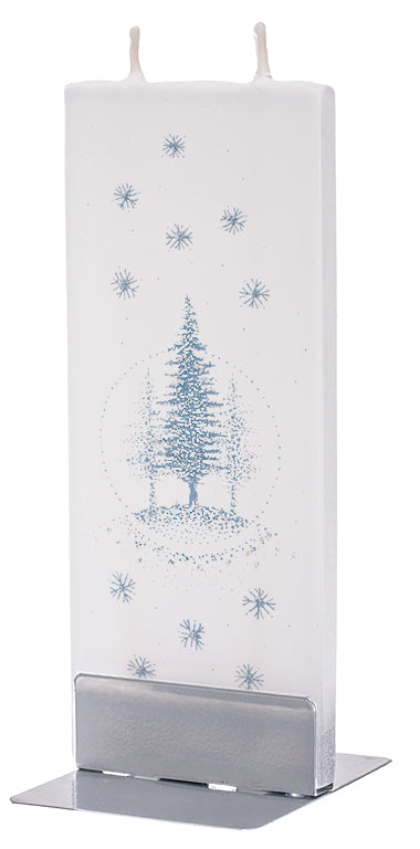 Silver Glitter Christmas Tree Scenery