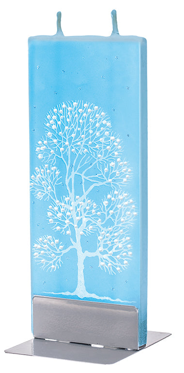 White Tree On Light Blue