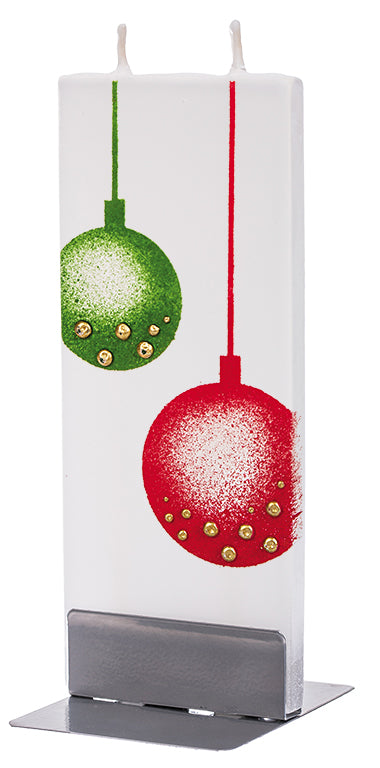 Christmas Ornament Balls, Green & Red