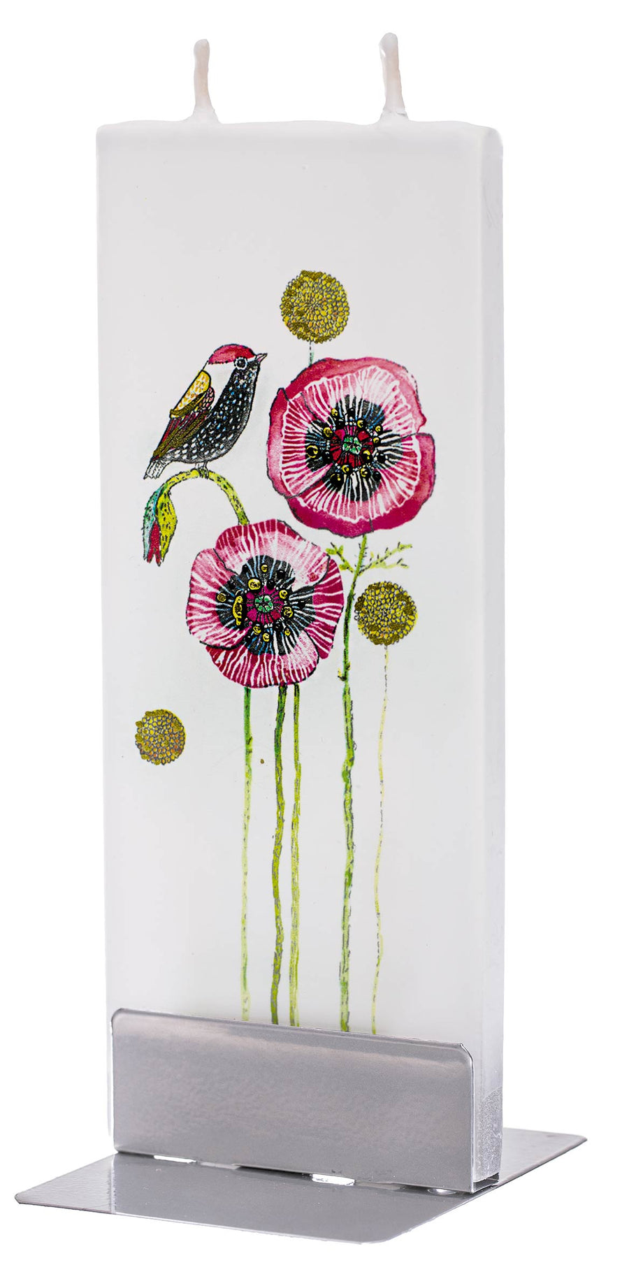 Bird On Poppies