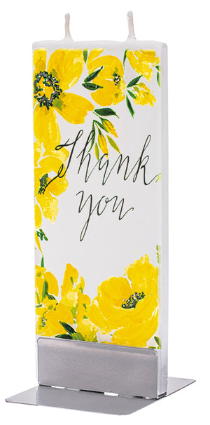 Thank You Yellow Floral Print