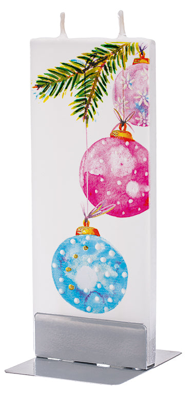 Pink and Blue Hanging Christmas Ornaments