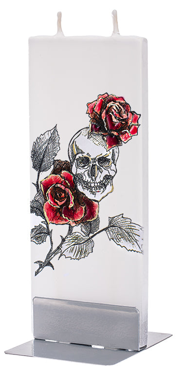 Skull With Red Roses