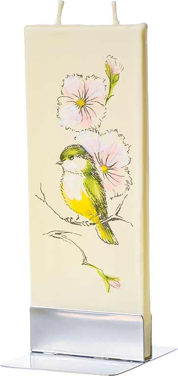 Yellow Bird and Flowers