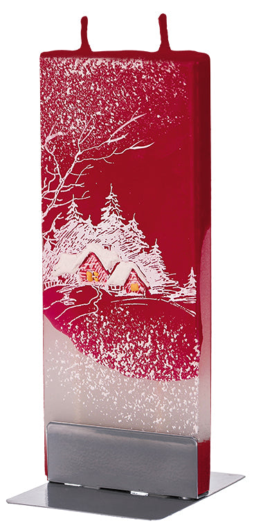 Winter Cottage on Red