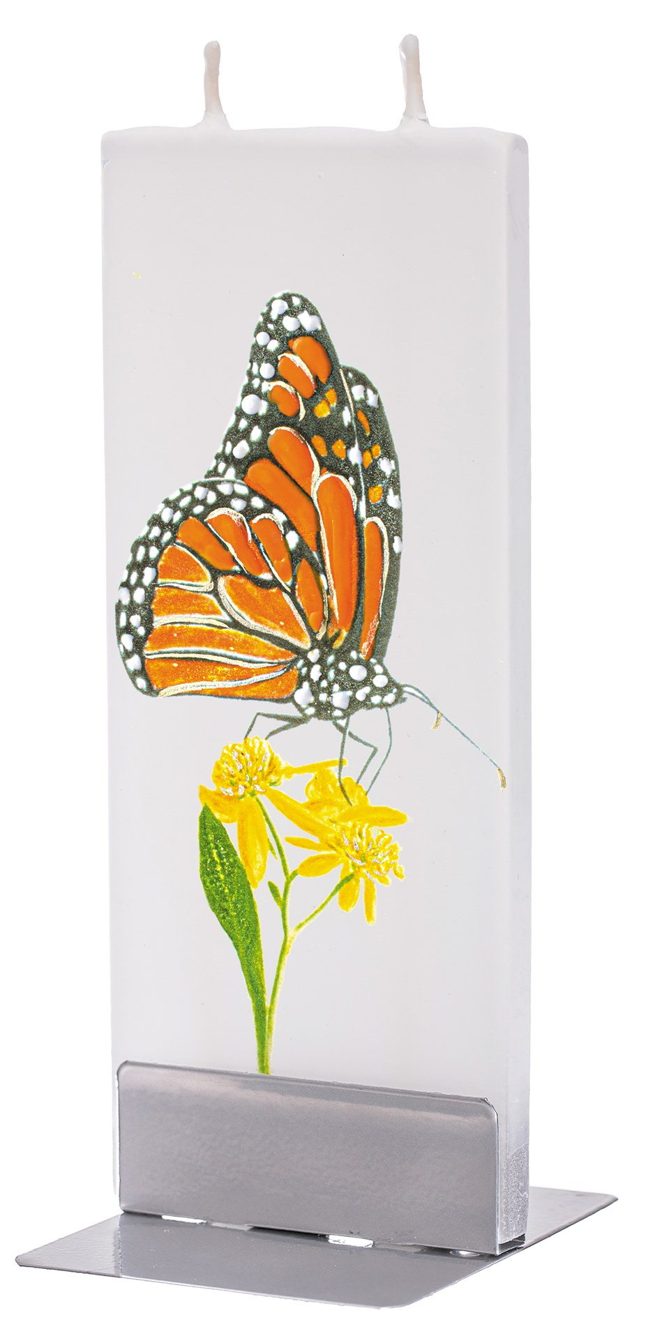 Monarch Butterfly On Flower Candle