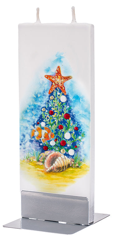 Coral Reef Christmas Tree Candle