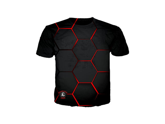 Red Lava Blocks T-shirt